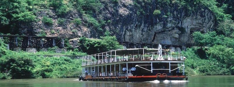 Crociera sul fiume Kwai Noi, Thailandia