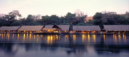River Kwai jungle raft resort